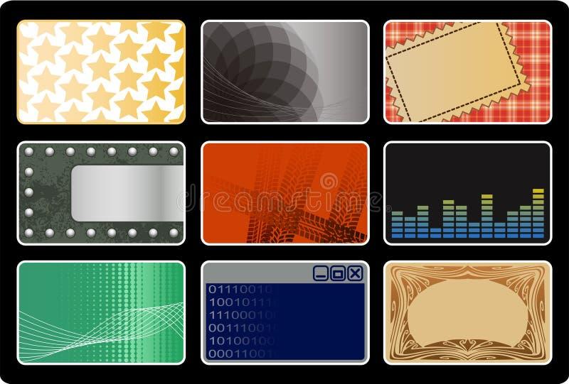 Cartões ilustração stock