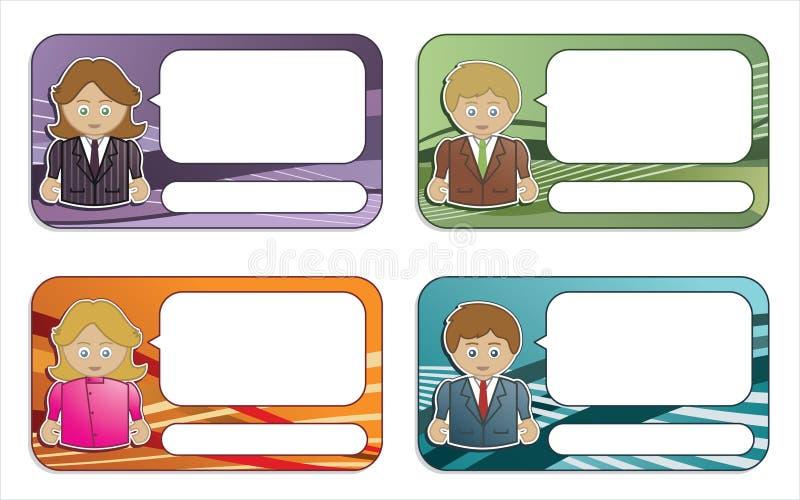 Cartões ilustração do vetor