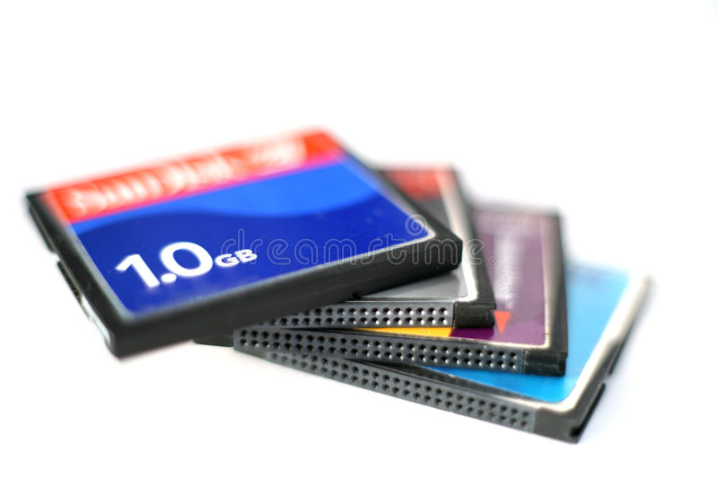 Cartões 3 de CompactFlash imagens de stock royalty free