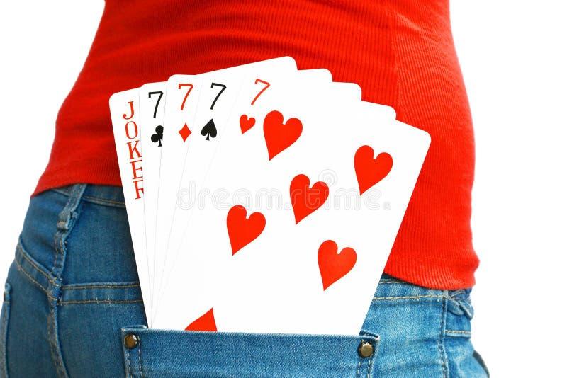 5 cartões imagens de stock royalty free