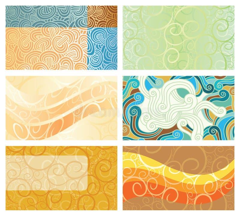 Cartões abstratos do fundo do redemoinho ilustração royalty free