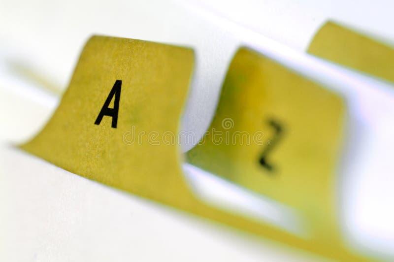 Cartões amarelos do arquivo fotografia de stock