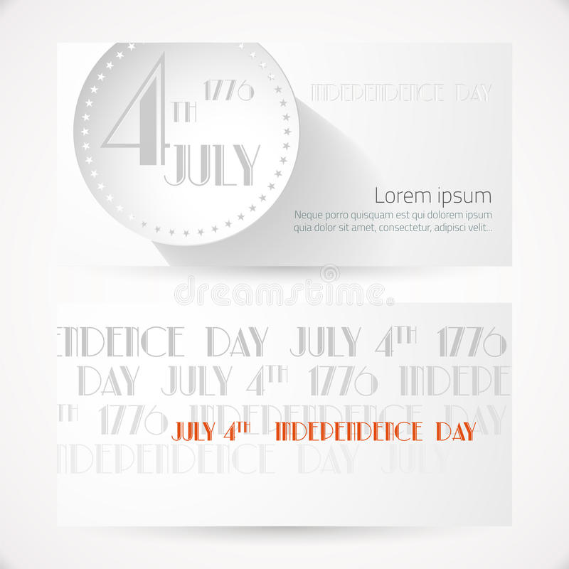 Cartões americanos do Dia da Independência ilustração do vetor