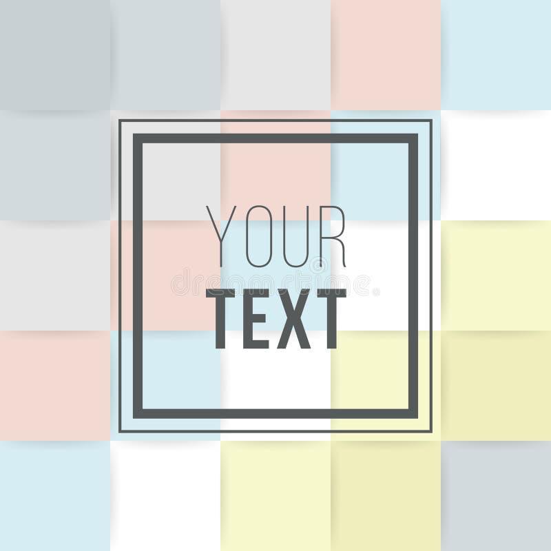 Cartões coloridos Cartaz abstrato moderno do projeto, tampa, projeto de cartão Geométrico na moda Textura retro do estilo, teste  ilustração royalty free