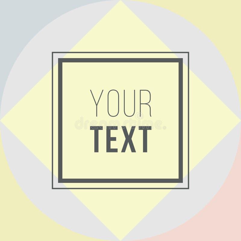 Cartões coloridos Cartaz abstrato moderno do projeto, tampa, projeto de cartão Geométrico na moda Textura retro do estilo, teste  ilustração stock