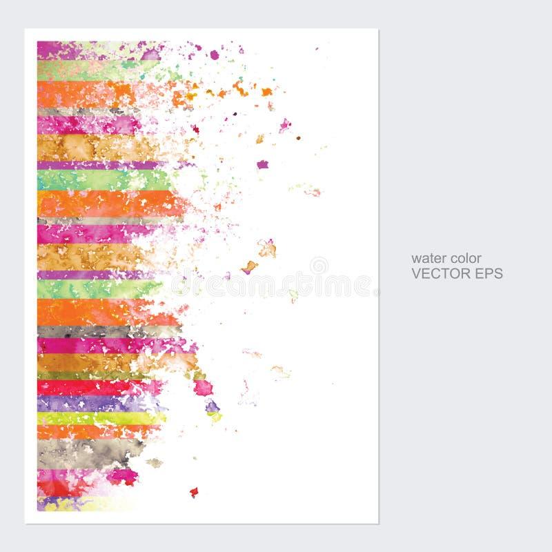Cartões com vetor do projeto da aquarela ilustração do vetor