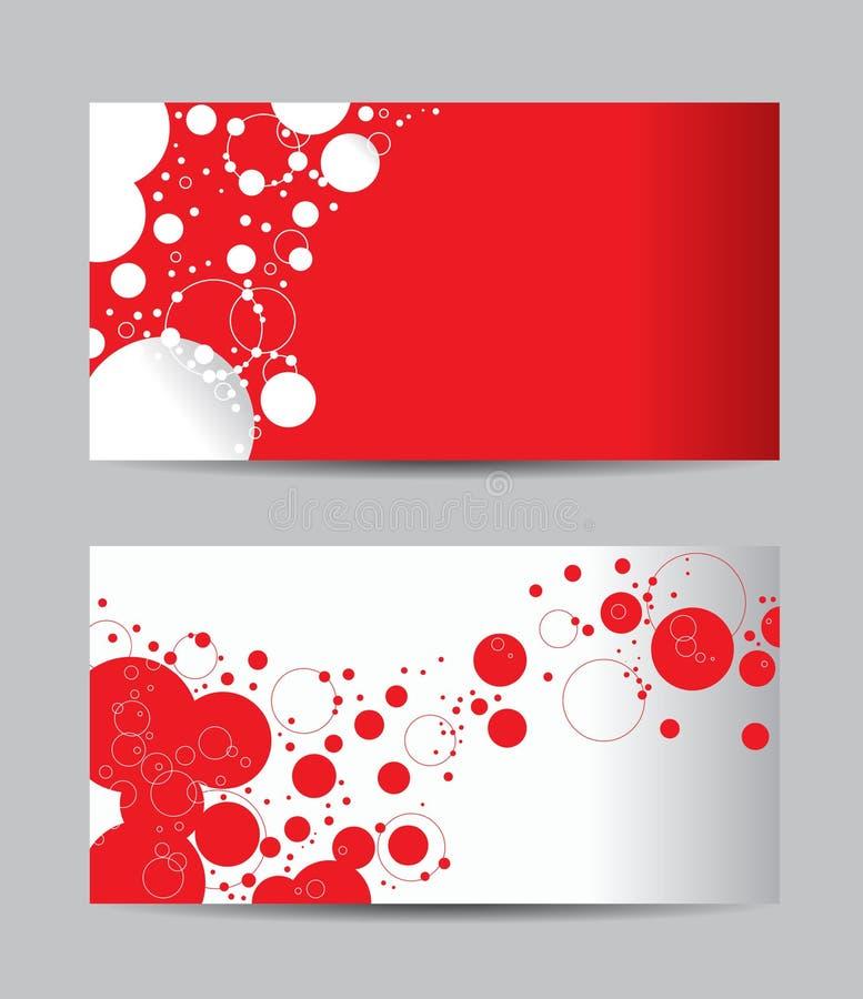 Cartões creativos abstratos do vetor ilustração stock