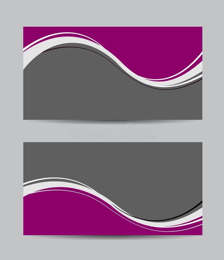 Cartões creativos abstratos do vetor ilustração do vetor