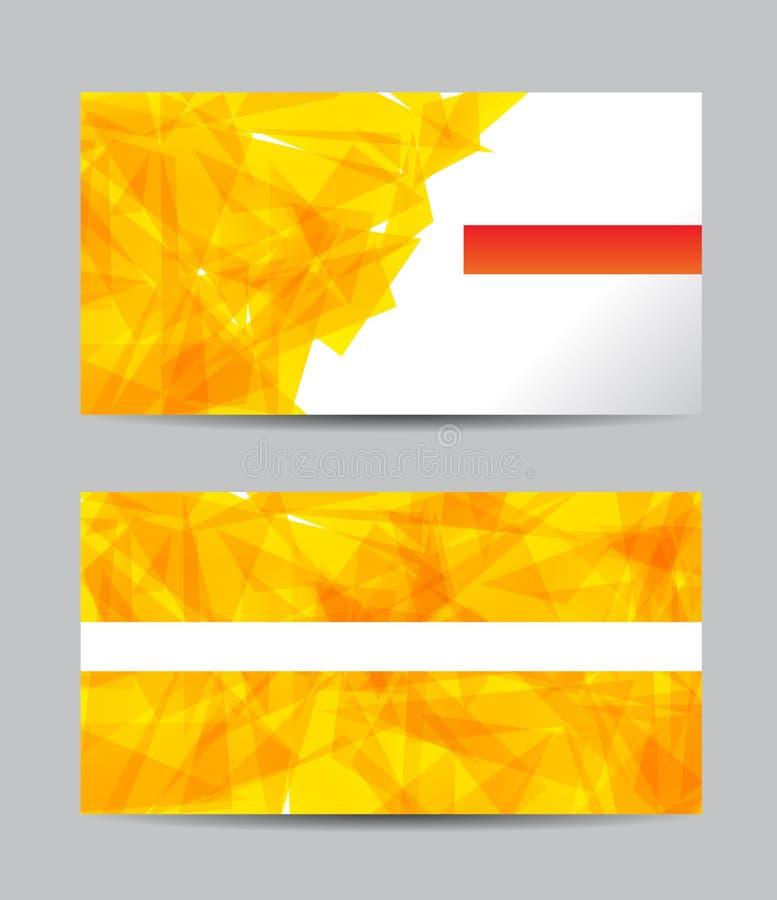 Cartões criativos amarelos do sumário do vetor ilustração stock