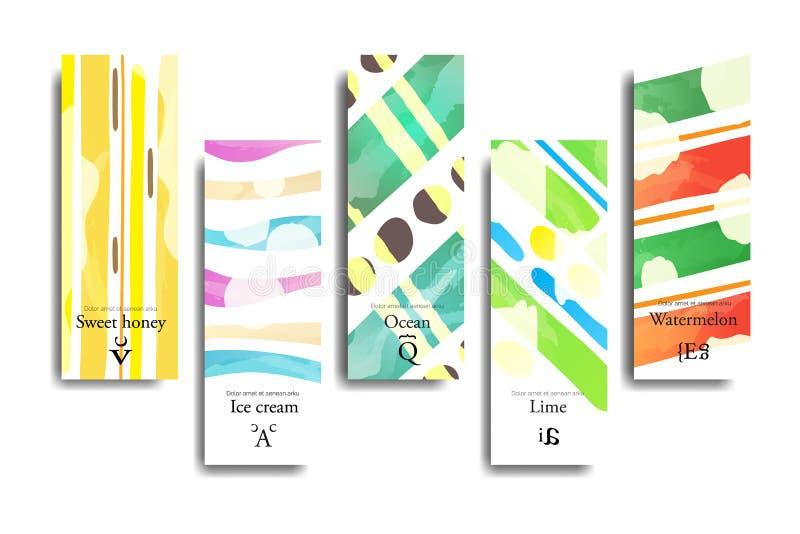 Cartões criativos artísticos ilustração royalty free
