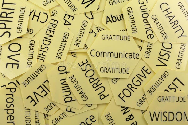 Cartões da terapia da gratitude imagens de stock