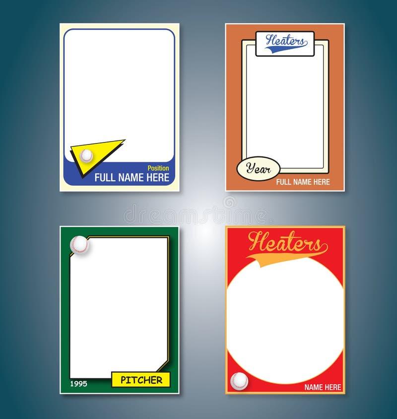 Cartões de basebol ilustração stock