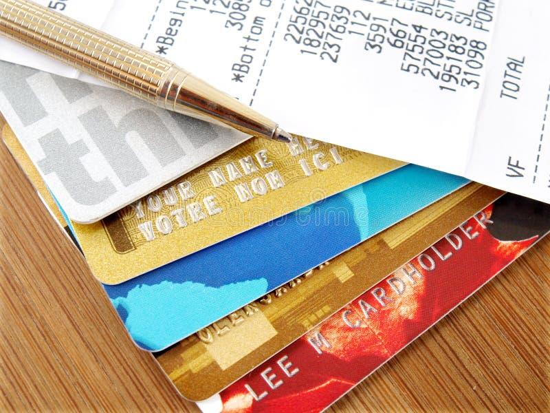 Cartões de crédito. imagem de stock