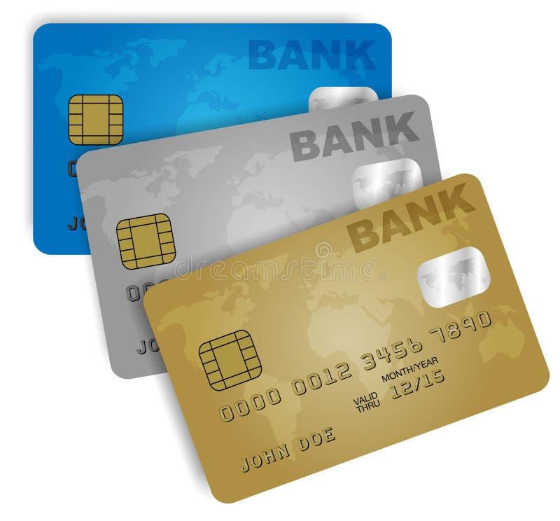 Cartões de crédito ilustração do vetor