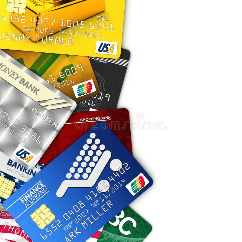 Cartões de crédito falsificados ilustração royalty free