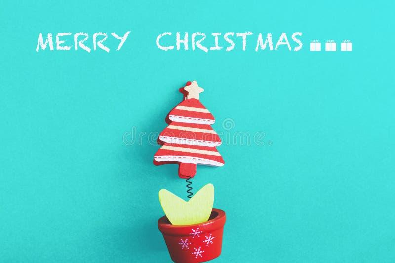 Cartões de cumprimentos da árvore de Natal para o Natal fotografia de stock