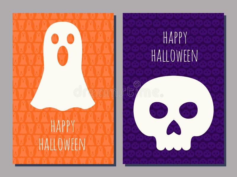 Cartões de Dia das Bruxas ilustração royalty free