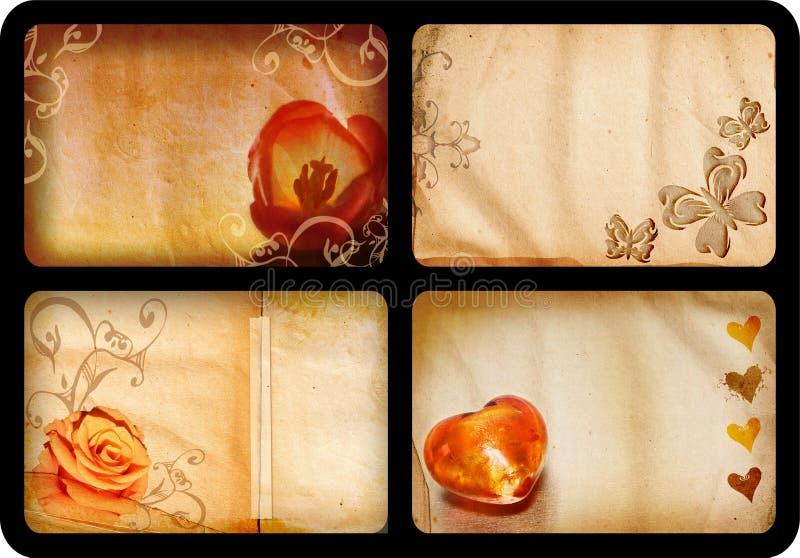 Cartões de Grunge ilustração royalty free