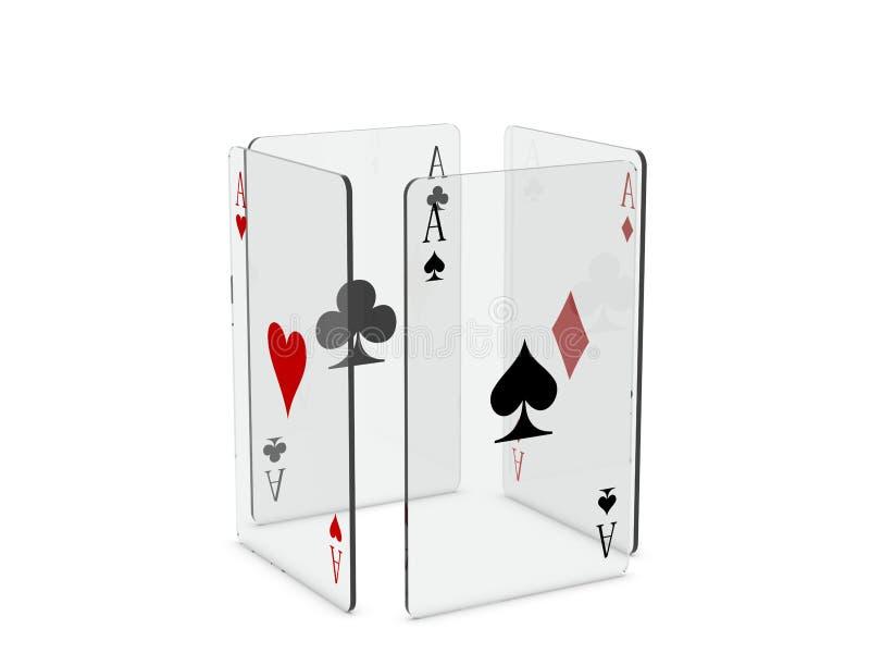 Download Cartões de jogo ilustração stock. Ilustração de pás, jogar - 16859414