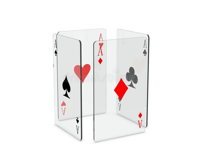Download Cartões de jogo ilustração stock. Ilustração de pás, jogar - 16859436