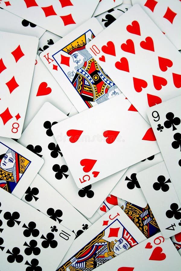Cartões de jogo imagem de stock royalty free