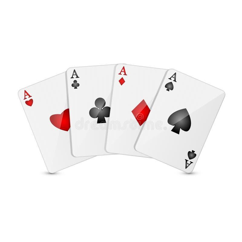 Cartões de jogo ilustração do vetor