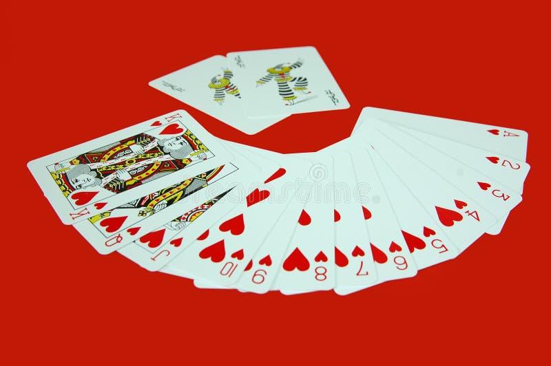 Cartões de jogo imagens de stock royalty free
