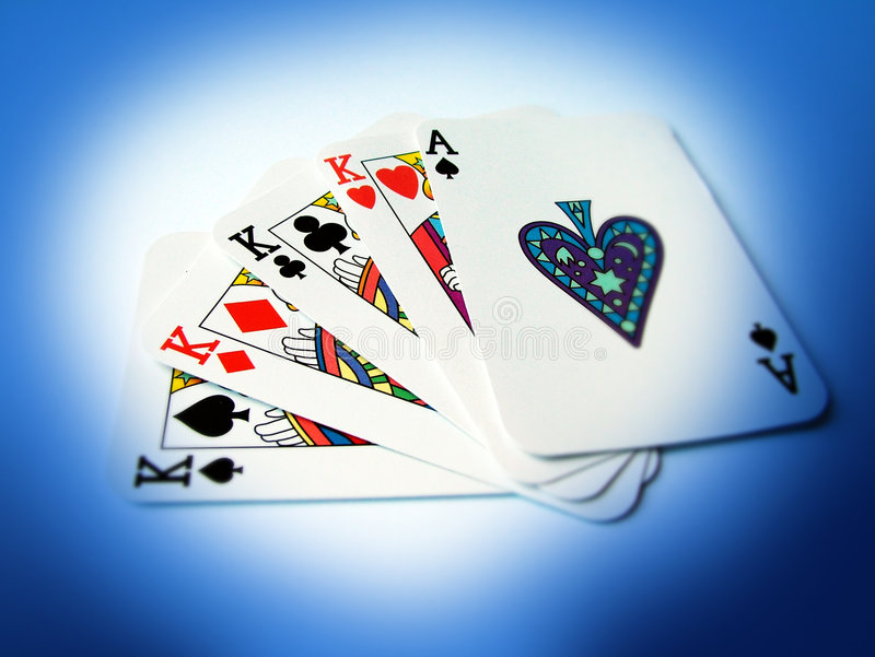 Cartões de jogo fotos de stock royalty free
