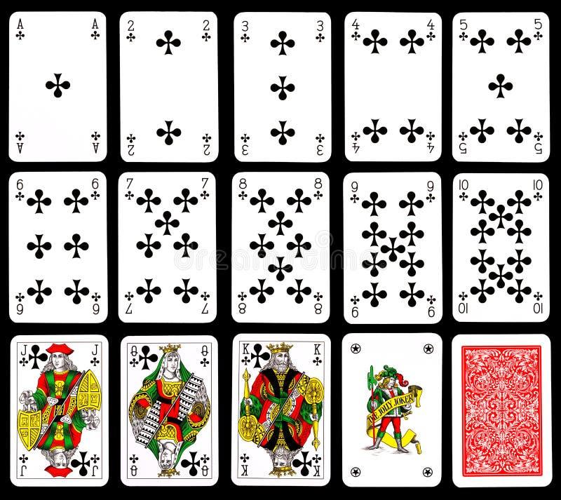 Cartões de jogo - clubes ilustração royalty free