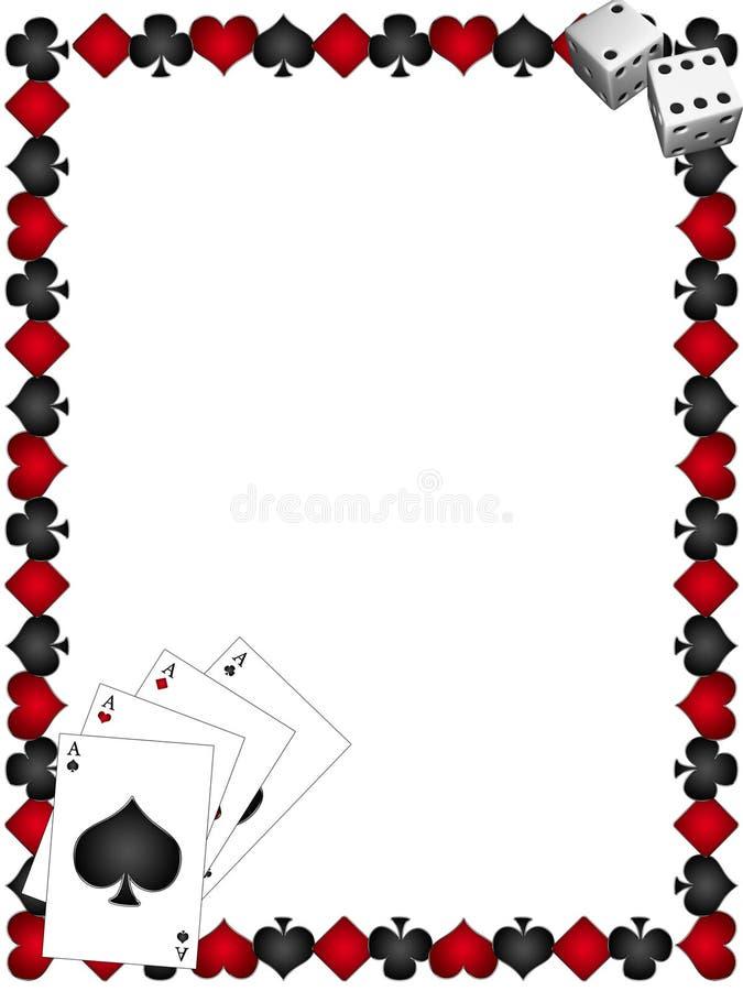 Cartões de jogo com beira ilustração stock