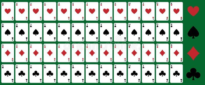 Cartões de jogo do póquer ilustração royalty free