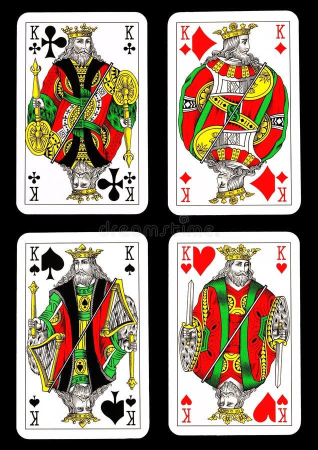 Cartões de jogo isolados ilustração do vetor