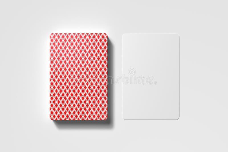 Cartões de jogo isolados no fundo minimalistic branco rendição 3d ilustração royalty free