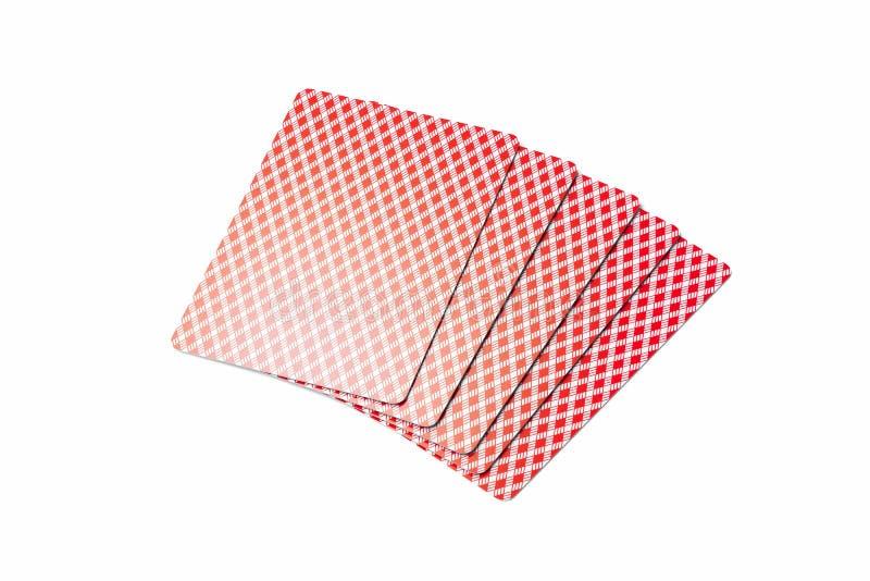Cartões de jogo isolados no fundo minimalistic branco rendição 3d ilustração do vetor
