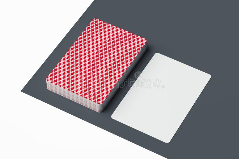 Cartões de jogo isolados no fundo minimalistic monocromático rendição 3d ilustração do vetor