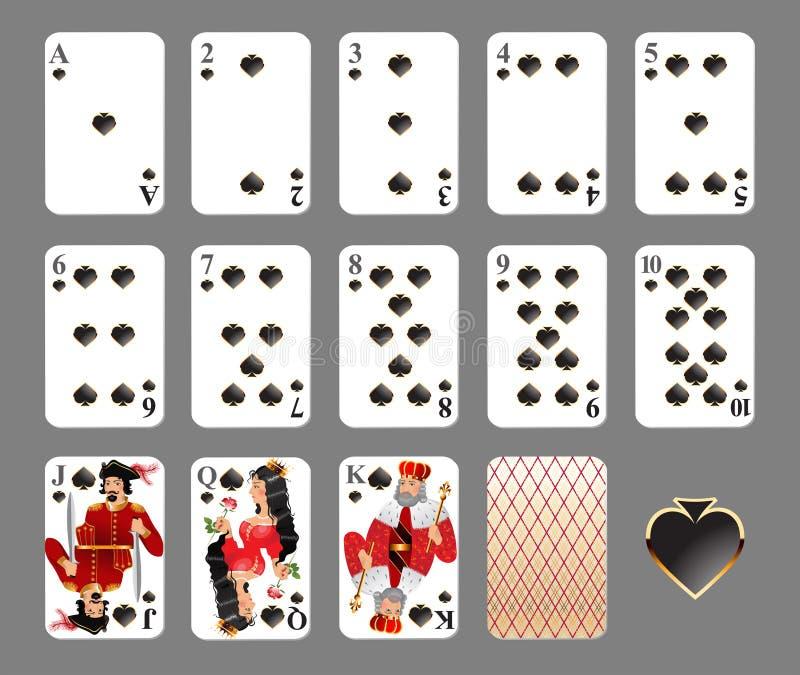 Cartões de jogo - terno da pá ilustração royalty free