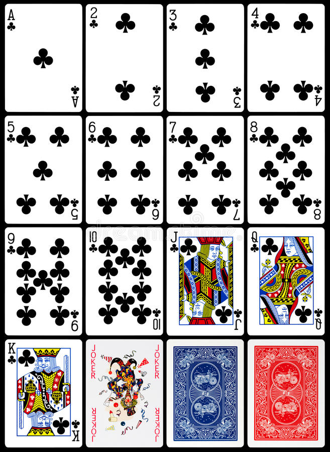 Cartões de jogo - terno dos clubes ilustração royalty free