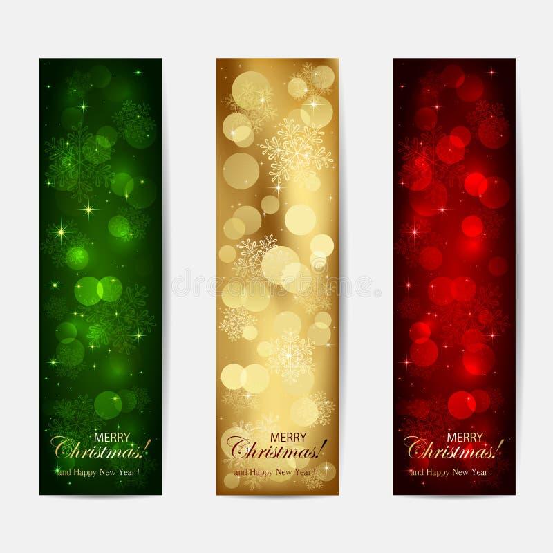 Cartões de Natal brilhantes ilustração do vetor
