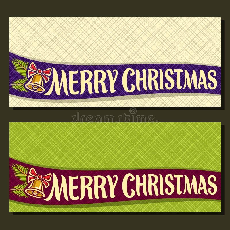 Cartões de Natal do vetor ilustração stock