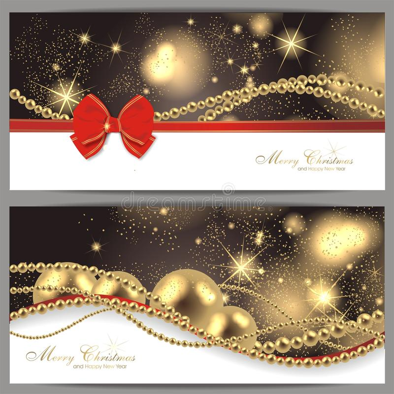 2 cartões de Natal mágicos ilustração do vetor