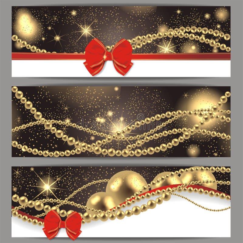 3 cartões de Natal mágicos ilustração do vetor