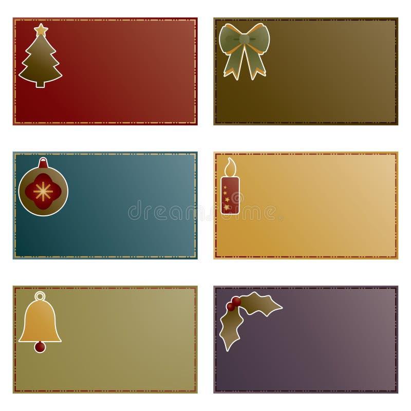 Download Cartões de nota do Natal ilustração do vetor. Ilustração de christmas - 16872661
