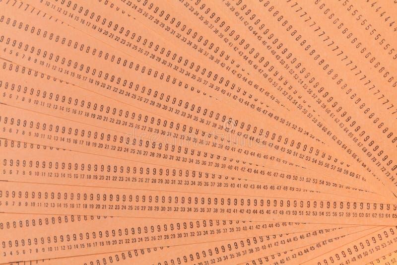 Cartões de perfurador não utilizados do computador do vintage imagens de stock