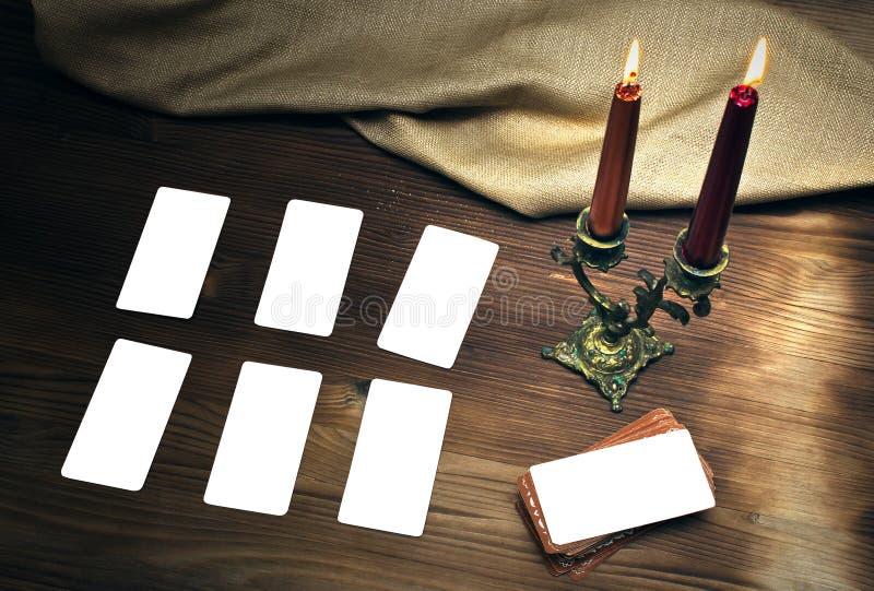 Cartões de Tarot imagem de stock