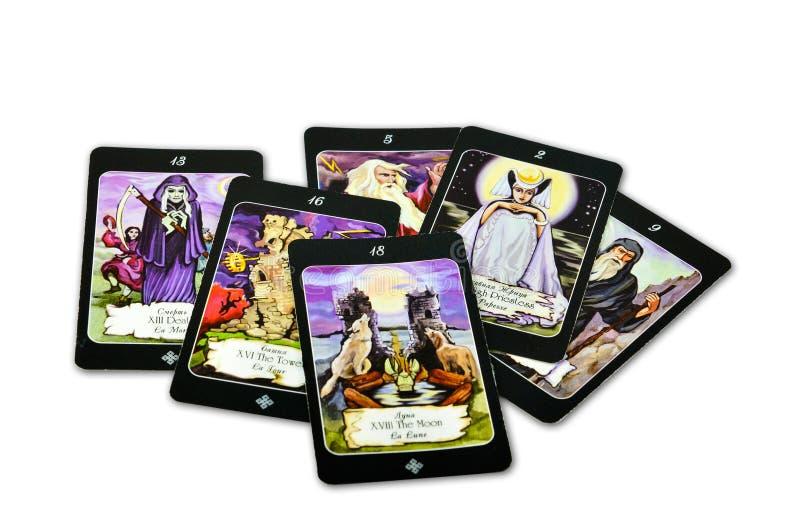 Cartões de Tarot imagem de stock royalty free