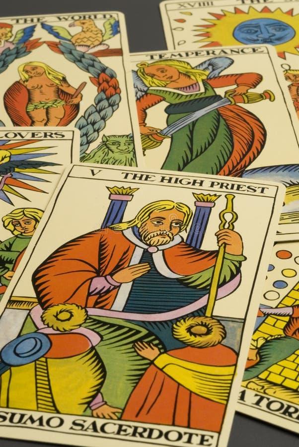 Cartões de Tarot. fotos de stock