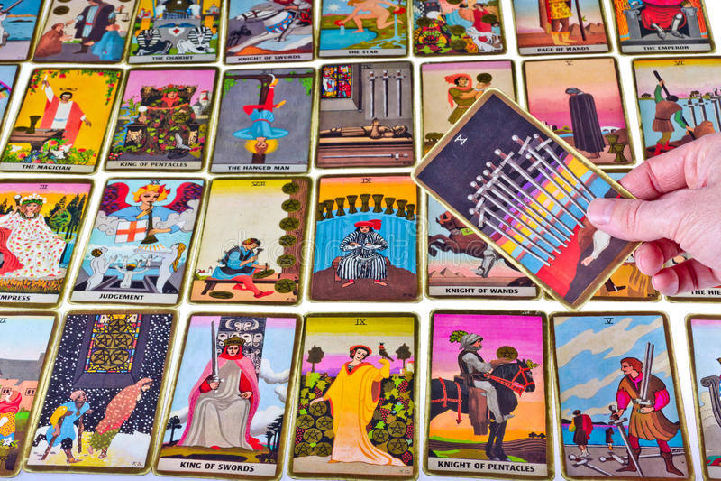 Cartões de Tarot foto de stock