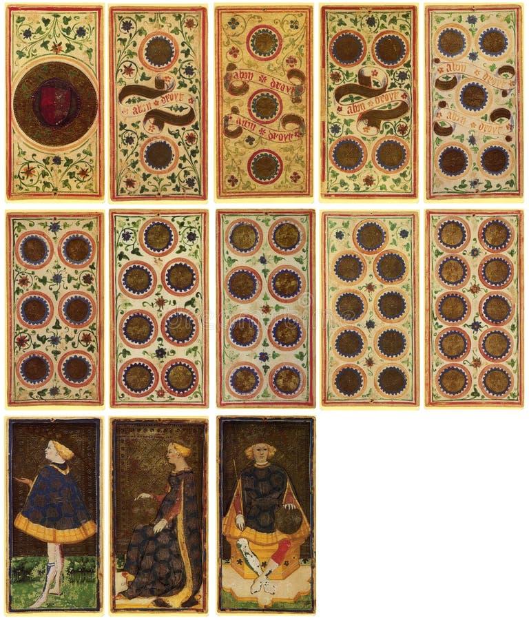 Cartões de Tarot - Arcanum ilustração stock