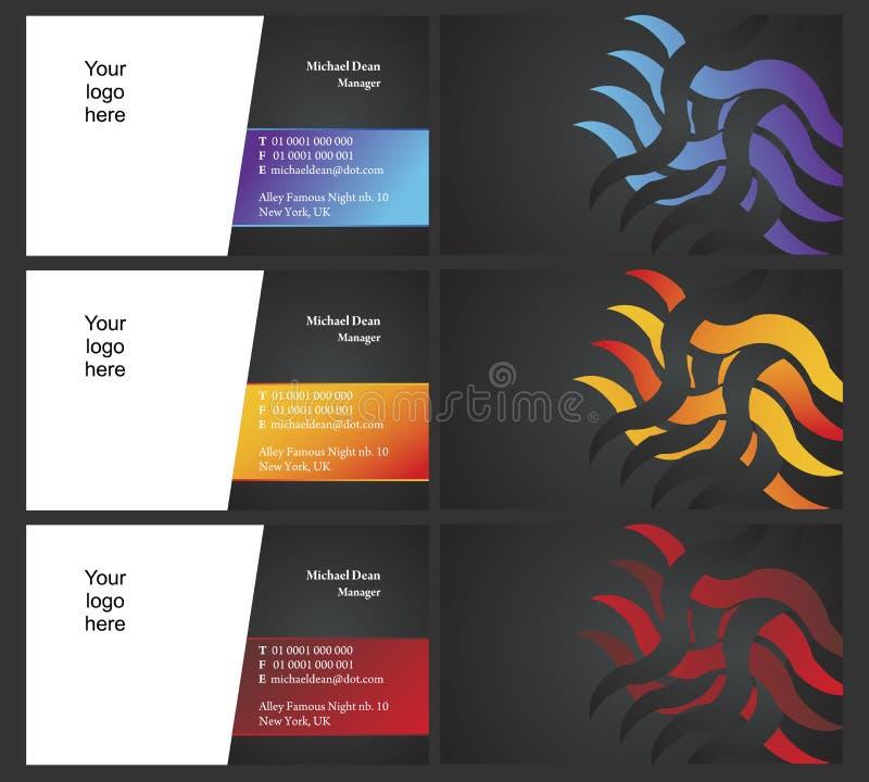 Cartões de Vising - frente e verso - 7 ilustração do vetor