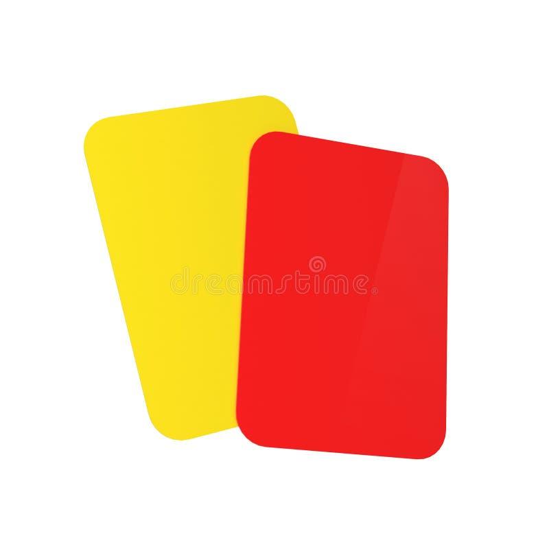 Cartões do árbitro do futebol ilustração royalty free